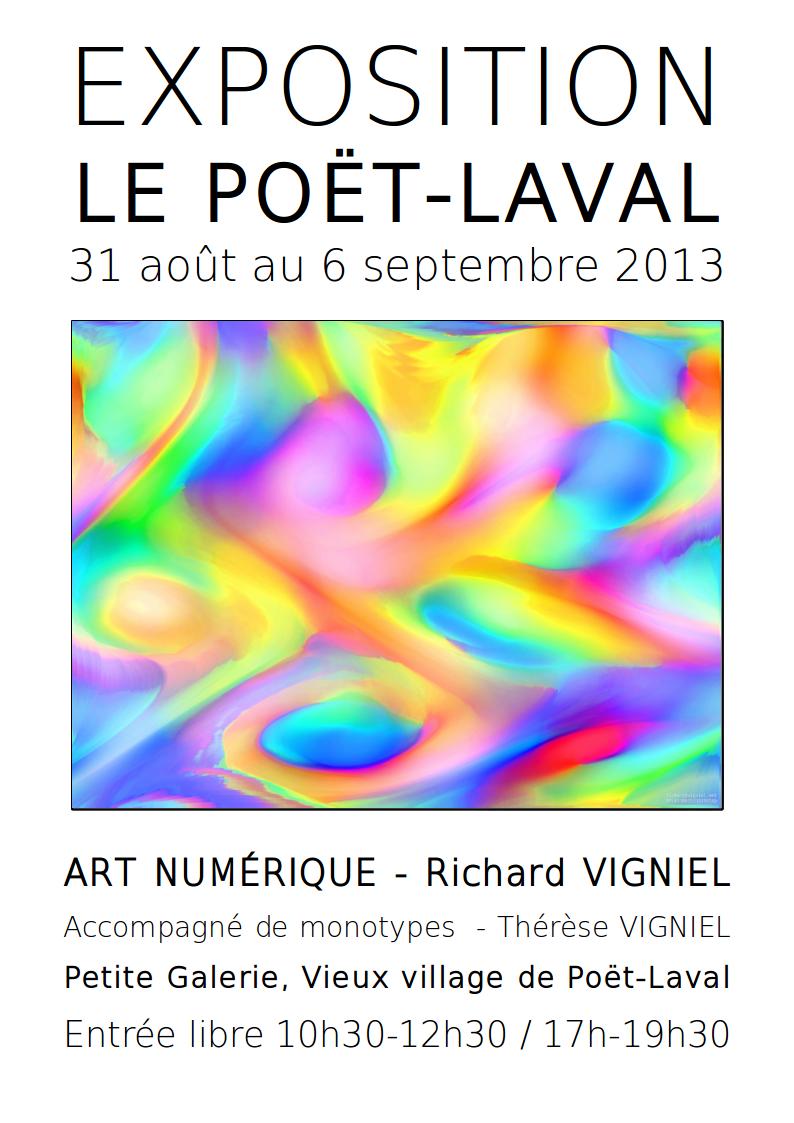 EXPOSITION LE POET-LAVAL ART NUMERIQUE VIGNIEL